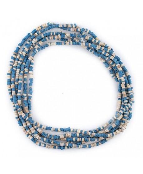Cerámica faraónica azul y crema, 1/3x3/4mm, paso 1mm