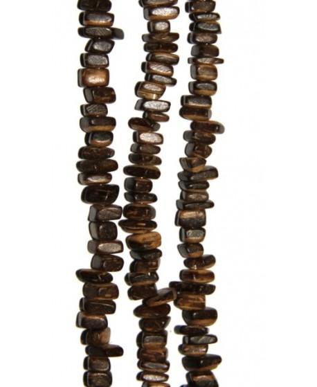 Coco irregular 7x6mm agujero 1,5 107 piezas por tira