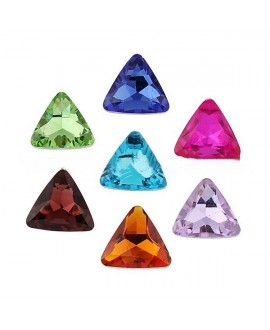 Cabujón triángulo de cristal 23mm