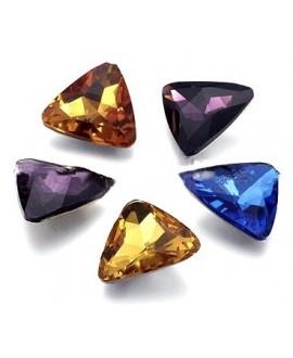 Cabujón cristal triángulo 15mm