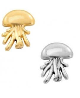 Entre-pieza medusa 16x12mm paso 1,3mm, zamak baño de plata