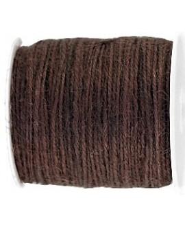 Cordón yute 2mm, marrón oscuro, venta por 5 metros