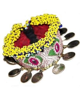 Brazalete totalmente realizados a mano con monedas antiguas, pashori