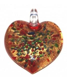 Colgante cristal artesanal corazón 44x37 mm