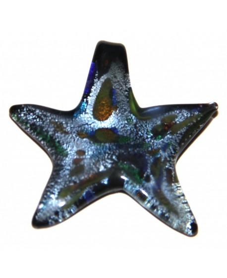 Colgante estrella cristal artesanal 38x40mm