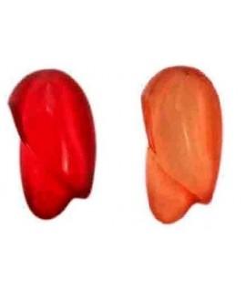 Resina ovalada irregular para pulsera 25x12mm, rojo