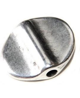 Cuenta 15x20 mm paso3 mm, zamak baño de plata, precio por 10 unidades