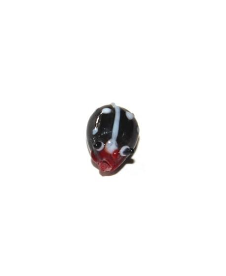 Entre-pieza mariquita  negra 10mm, paso 1mm