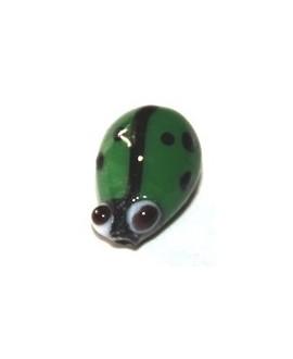 Entre-pieza mariquita  verde 10mm, paso 1mm