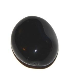 Cuenta barril bohemia negro 26X22mm, paso 0,5