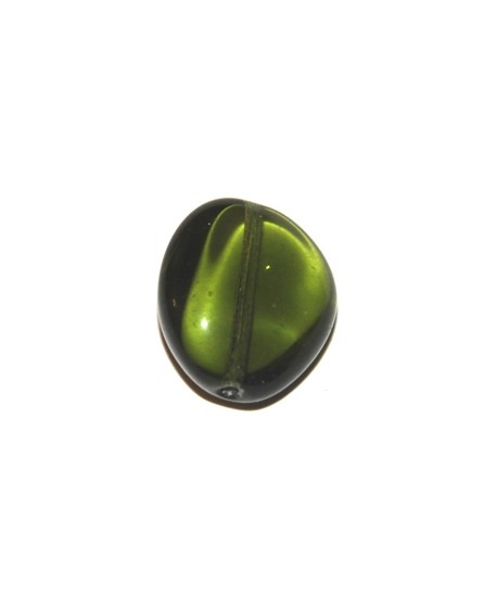 Cuenta barril bohemia verde 26X22mm, paso 0,5