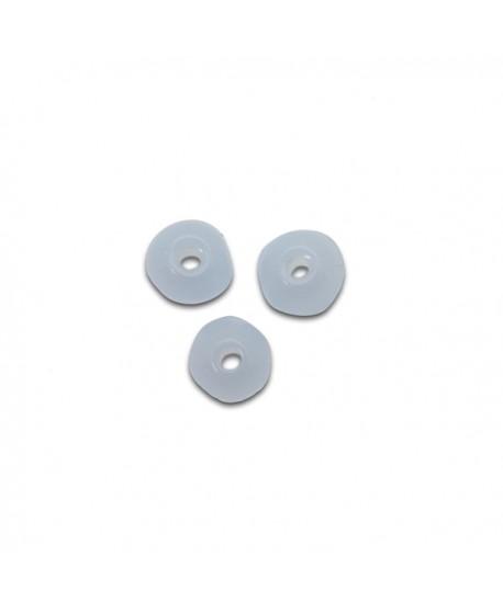 Cuenta de vidrio de 4mm paso 0,9mm de azul cielo opal , precio por 50 onidades