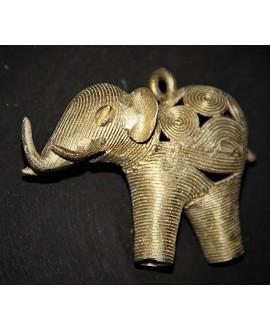 Colgante elefante de bronce 60x90x35mm, paso 8mm