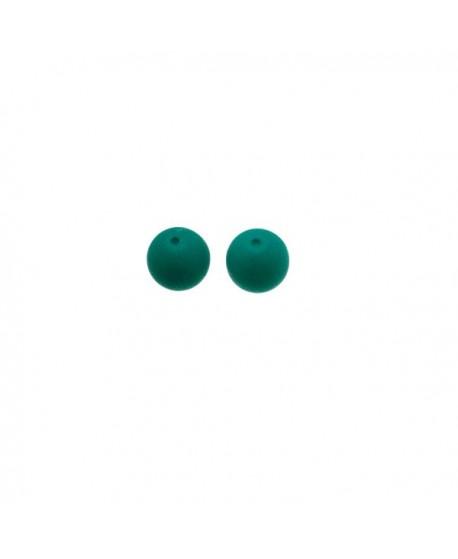 Cuenta de vidrio de 4mm verde opaco paso 1mm, precio por 30 unidades