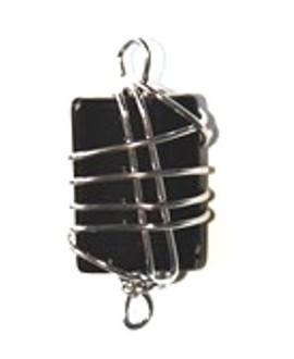 Entre-pieza con alambre negra 35x28mm