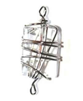 Entre-pieza con alambre transparente  35x28mm