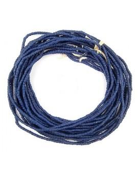 Cuentas cilindro Sandcast azul cobalto 3/3mm, paso 1mm, 280 cuentas aprox