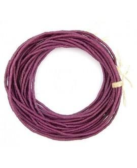 Cuentas cilindro Sandcast púrpura 3/3mm, paso 1mm, 280 cuentas aprox