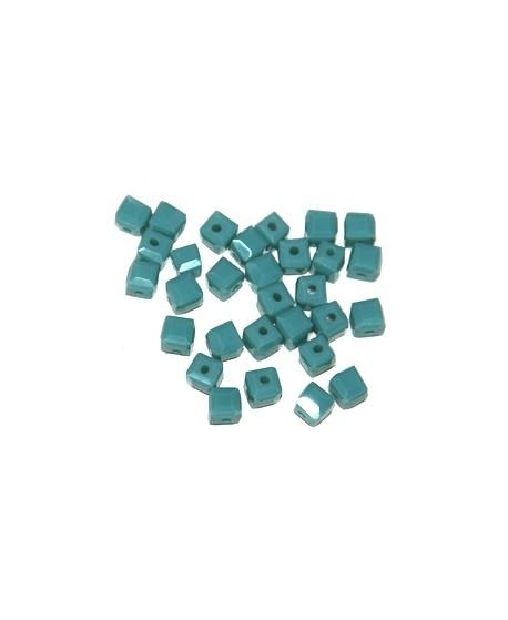 Cuenta cubo azul, 5mm, paso 1mm, precio por 30 unidades