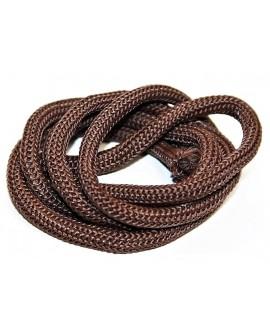 Cordón  poliéster marrón  6mm, precio por 20 cm