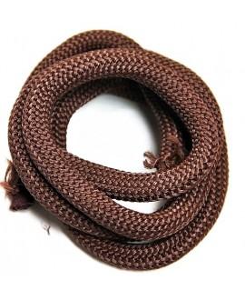 Cordón  poliéster marrón  10mm, precio por 20 cm