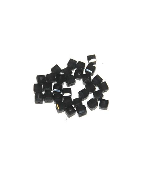 Cuenta cubo gris, 5mm, paso 1mm, precio por 30 unidades