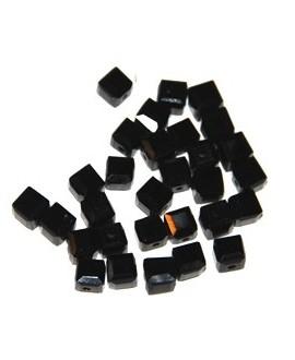 Cuenta cubo negro, 5mm, paso 1mm, precio por 24 unidades