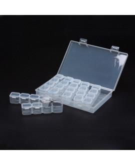 Caja almacenamiento de cuentas, 28 compartimentos extraíbles