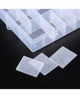 Caja almacenamiento de cuentas, 24 compartimentos extraíbles