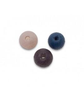 Cuenta mix vidrio 5mm paso 0,5mm de colores gris claro, gris oscuro y gris plomo, precio por 42 unidades