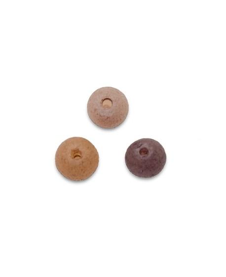 Cuenta mix vidrio 5mm paso 0,5mm de colores avellana, visón y marrón, precio por 42 unidades