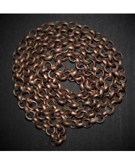 Cadena rolo cobre 5mm, precio por metro