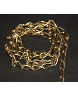Cadena acero dorado claro 15x8x2mm, venta por metro