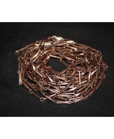Cadena palitos metal cobre, venta por metro