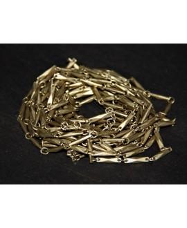 Cadena palitos metal bronce, venta por metro