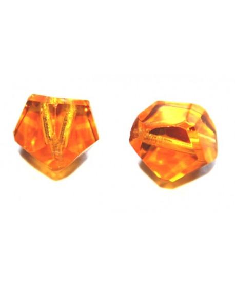 Cuenta octógono cristal 14mm desigual, precio por 4 unidades