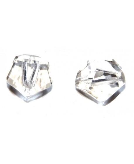 Cuenta octógono cristal 14mm desigual, precio por 3 unidades