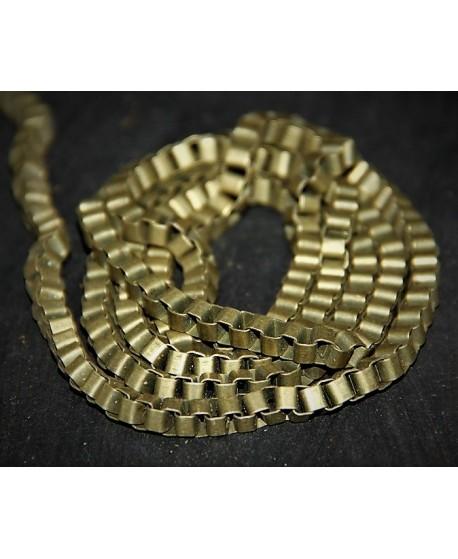 Cadena eslabón cuadrado bronce, 5mm, precio por metro
