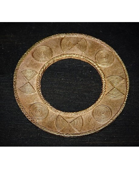 Colgante aro bronce 65mm