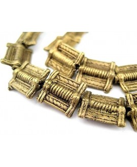Cuenta mini baule de bronce 10/11x12/13mm, paso 1,5mm, precio por unidad