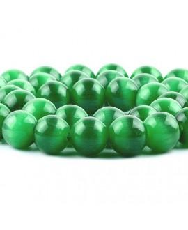 Ojo de gato verde 10mm, precio por ristra