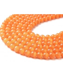 Ojo de gato naranja 6mm, precio por ristra