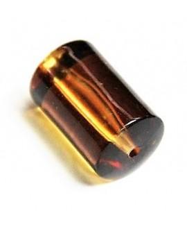 Tubo resina color ámbar 28x15mm, paso 2mm