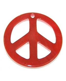 Colgante simbolo de paz cornalina 50mm