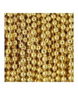Cadena bolas 8mm, baño de oro, precio por 50cm