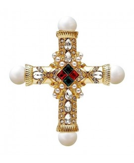 Broche cruz 72x62mm