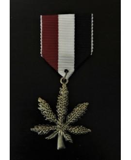 Medalla, insignia hoja 90x35mm