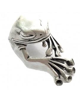 Base de anillo ajustable rana para cristal de 3mm, latón baño de plata