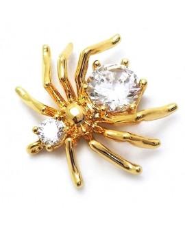 Colgante araña 14x13mm paso 1mm, baño de oro 24 kilates