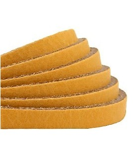 Cuero plano 5mm color amarillo ocre, precio por metro